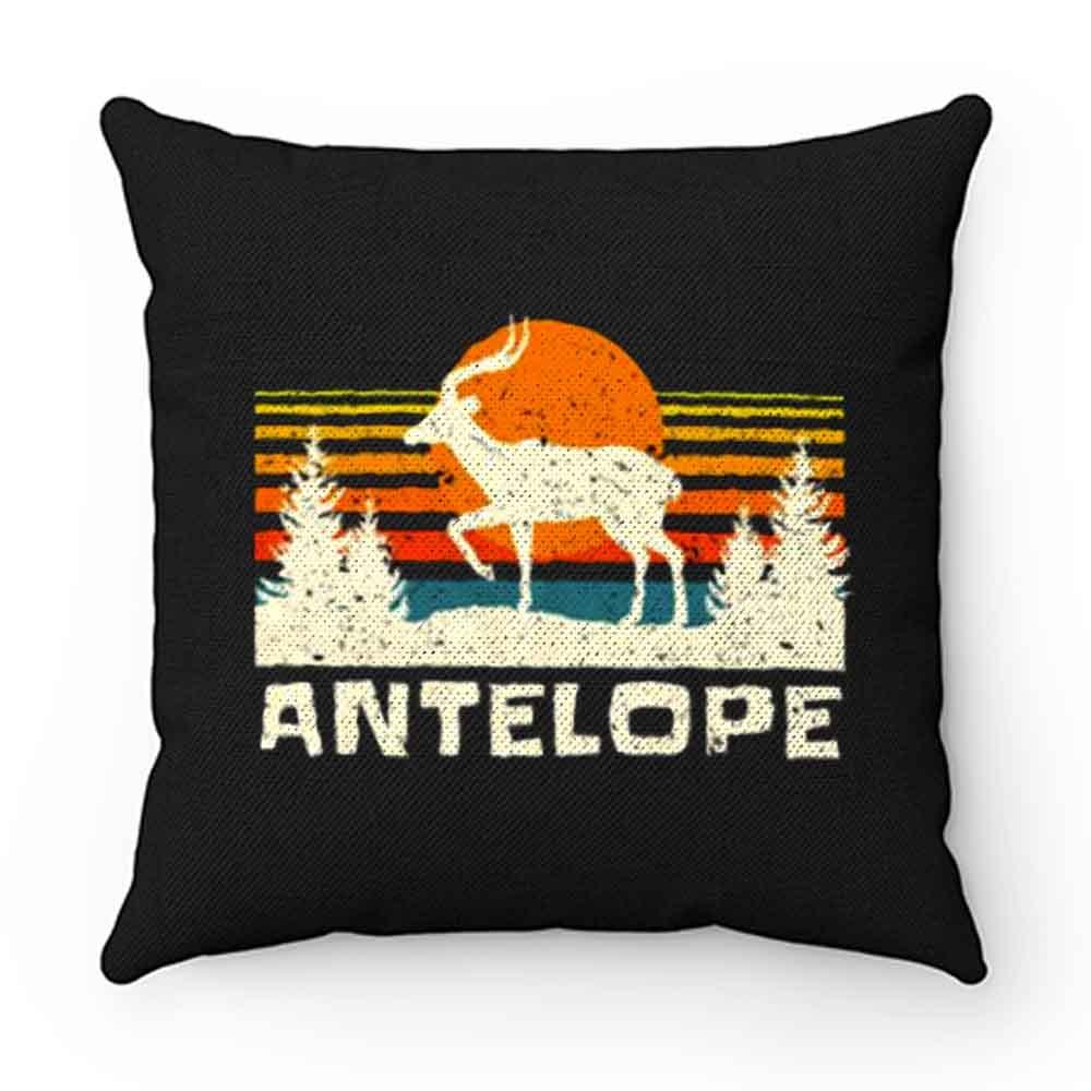 African Antelope Retro Wildlife Lover Pillow Case Cover