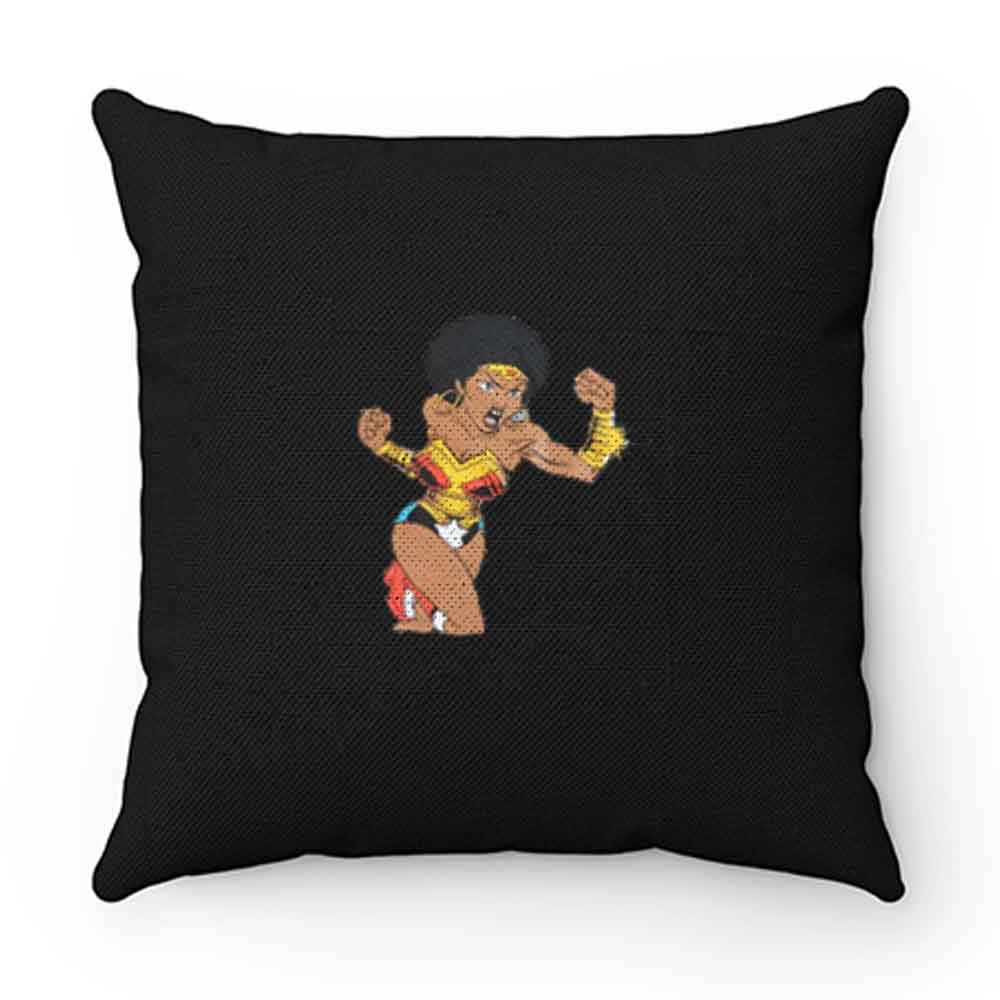 Afro Girl Wonder Woman Pillow Case Cover