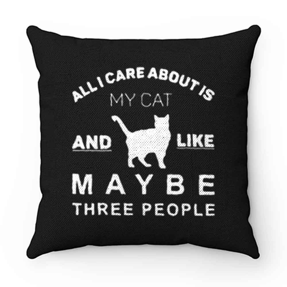 All I Care About Is My Cat Pillow Case Cover