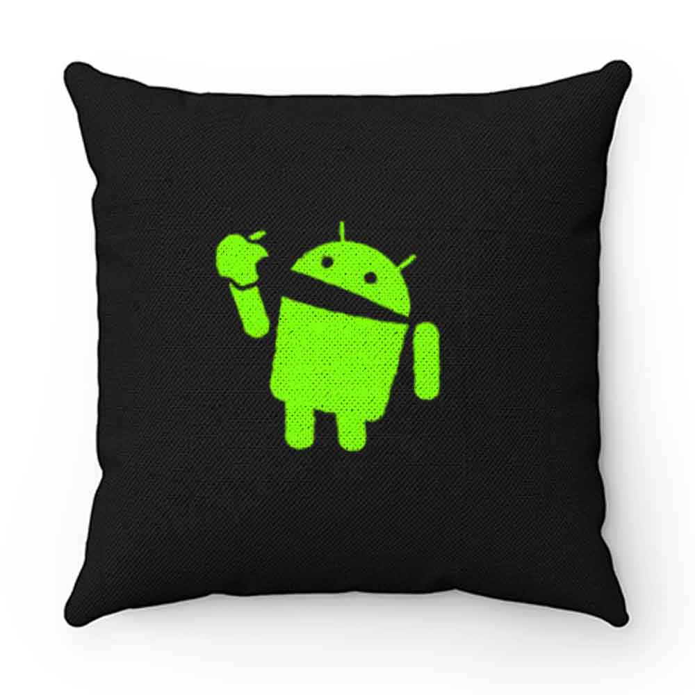 Android Eats Apple Pillow Case Cover