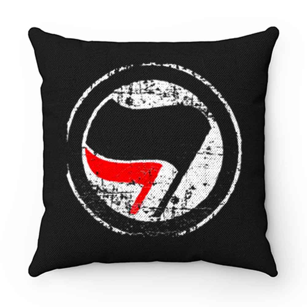 Antifa Red and Black Flag Antifascist Action Pillow Case Cover