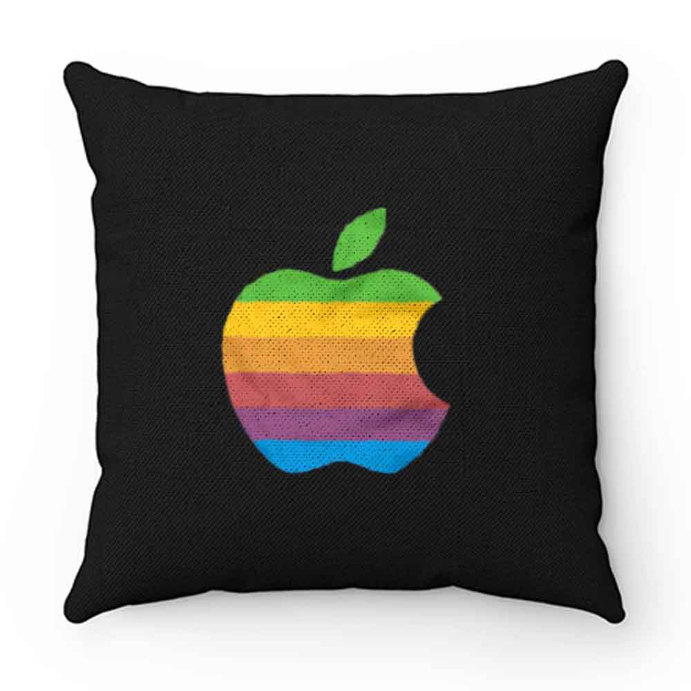 Apple Computer 80s Rainbow Logo Pillow Case Cover