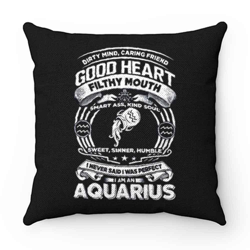 Aquarius Good Heart Filthy Mount Pillow Case Cover