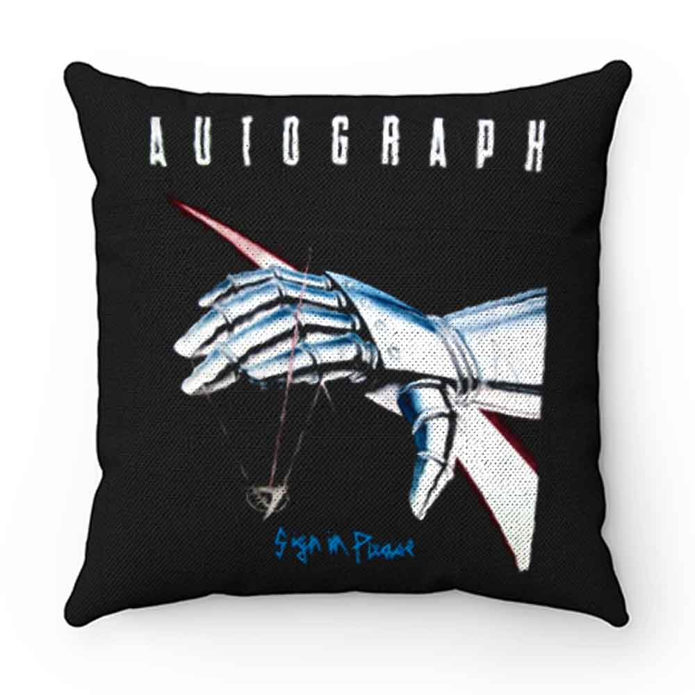 Autograph Sign In Please Pillow Case Cover