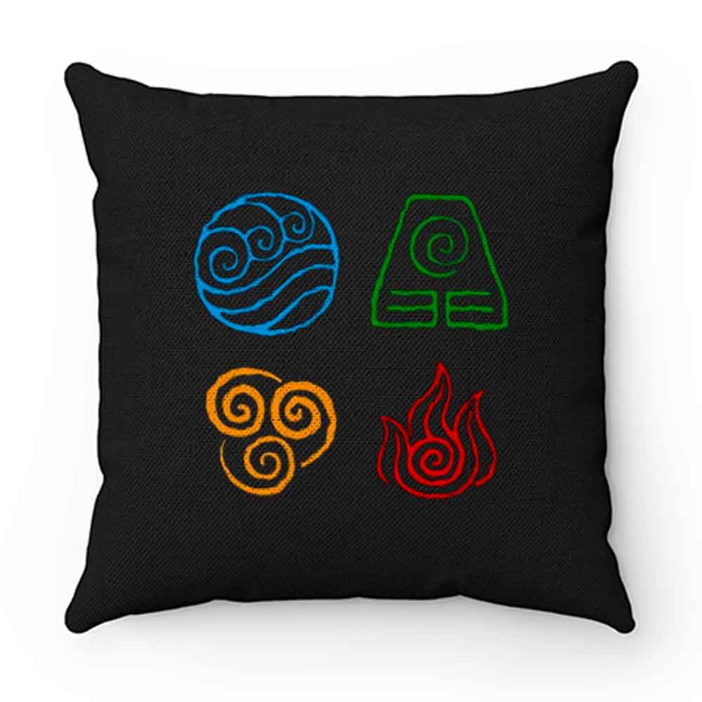 Avatar the last airbender Legend of korra tribe elements print Pillow Case Cover