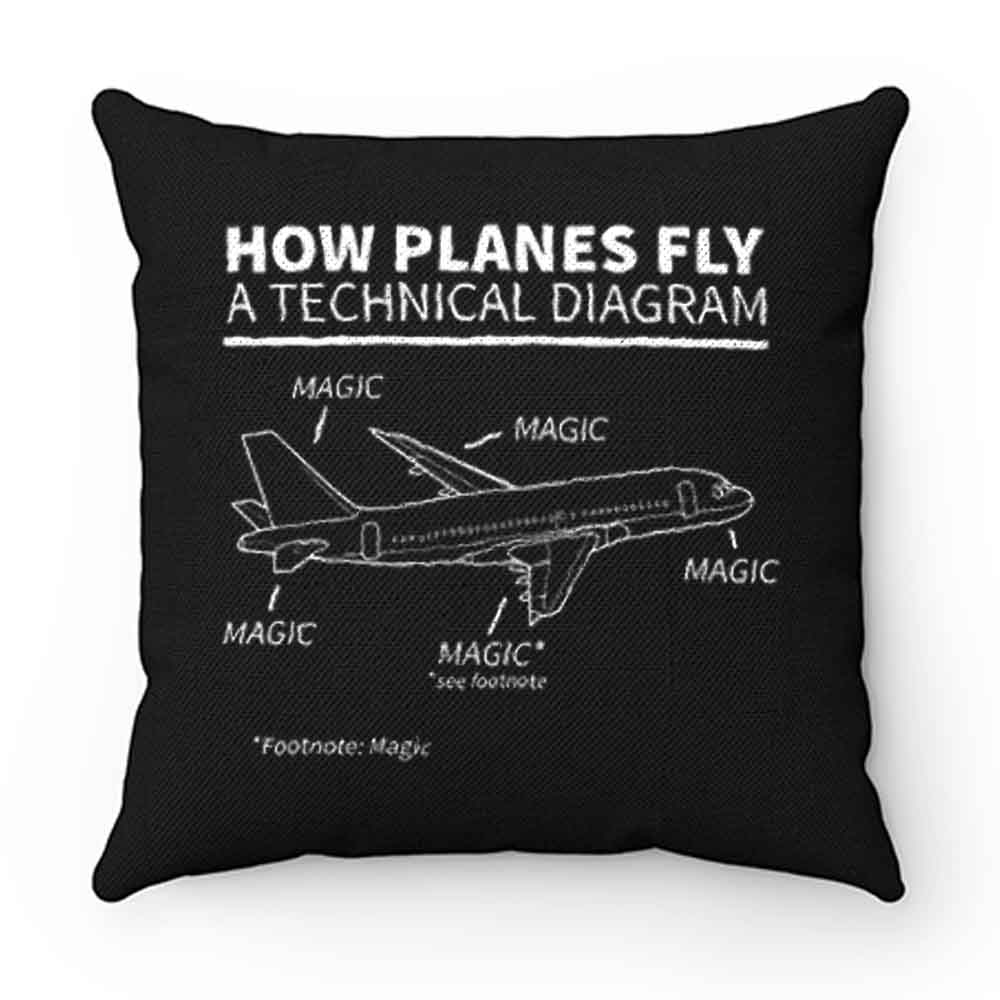 Aviation How Planes Fly Magic Pillow Case Cover