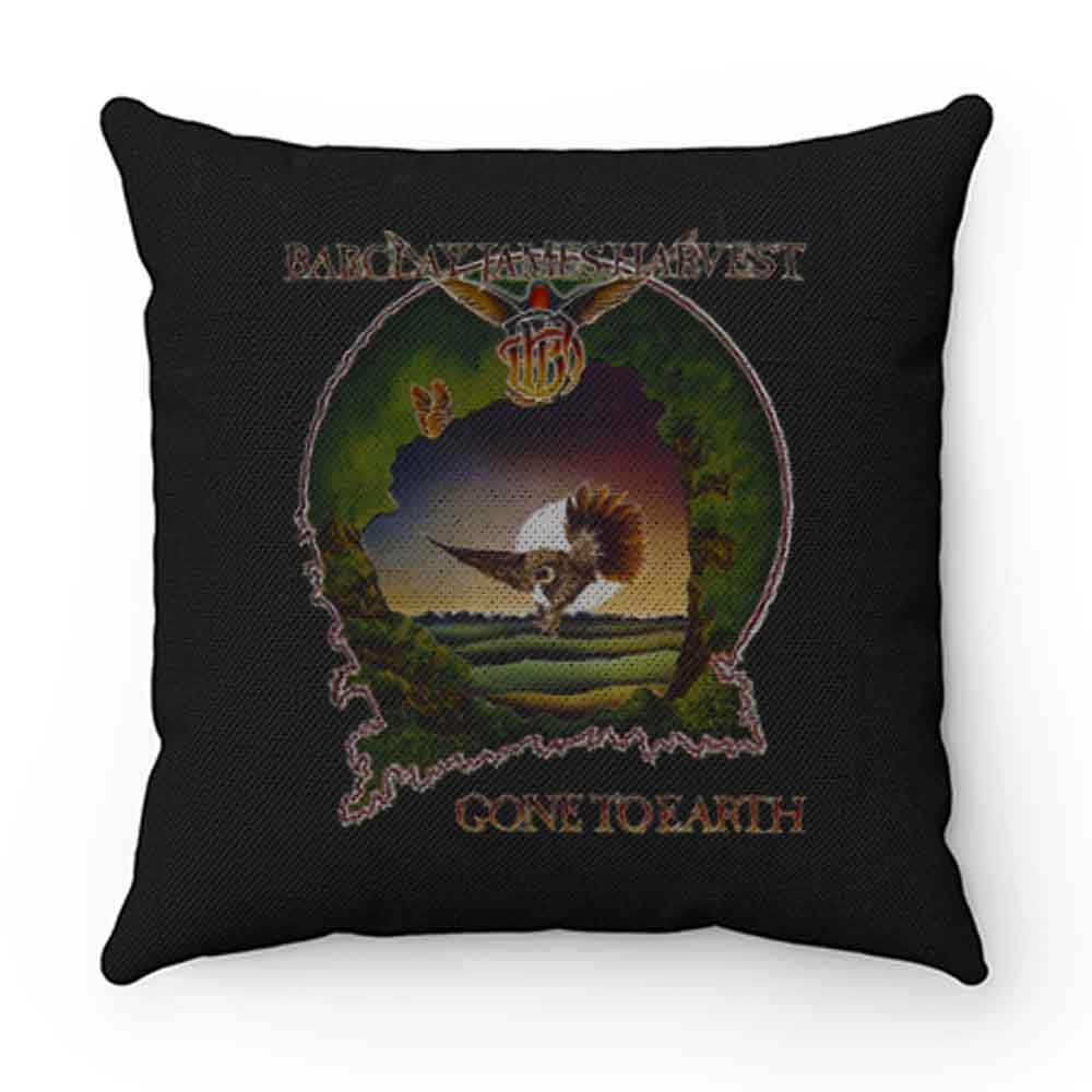 BARCLAY JAMES HARVEST GONE TO EARTH 1977 BLACK Pillow Case Cover