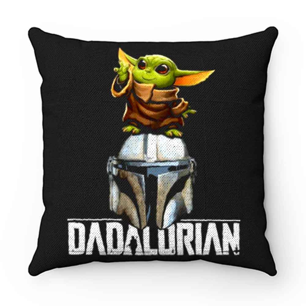 Baby Yoda Dadalorian Funny Star Wars Pillow Case Cover