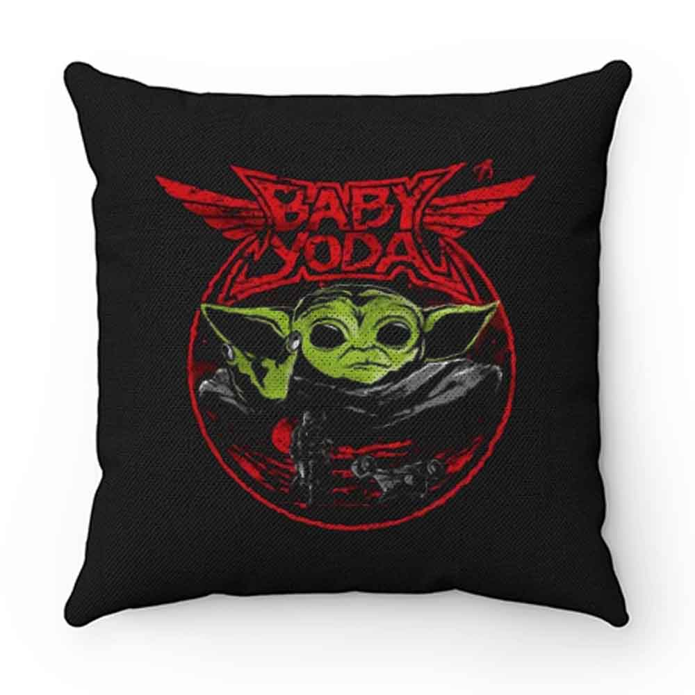 Baby Yoda Metal Heavy Metal Band Pillow Case Cover