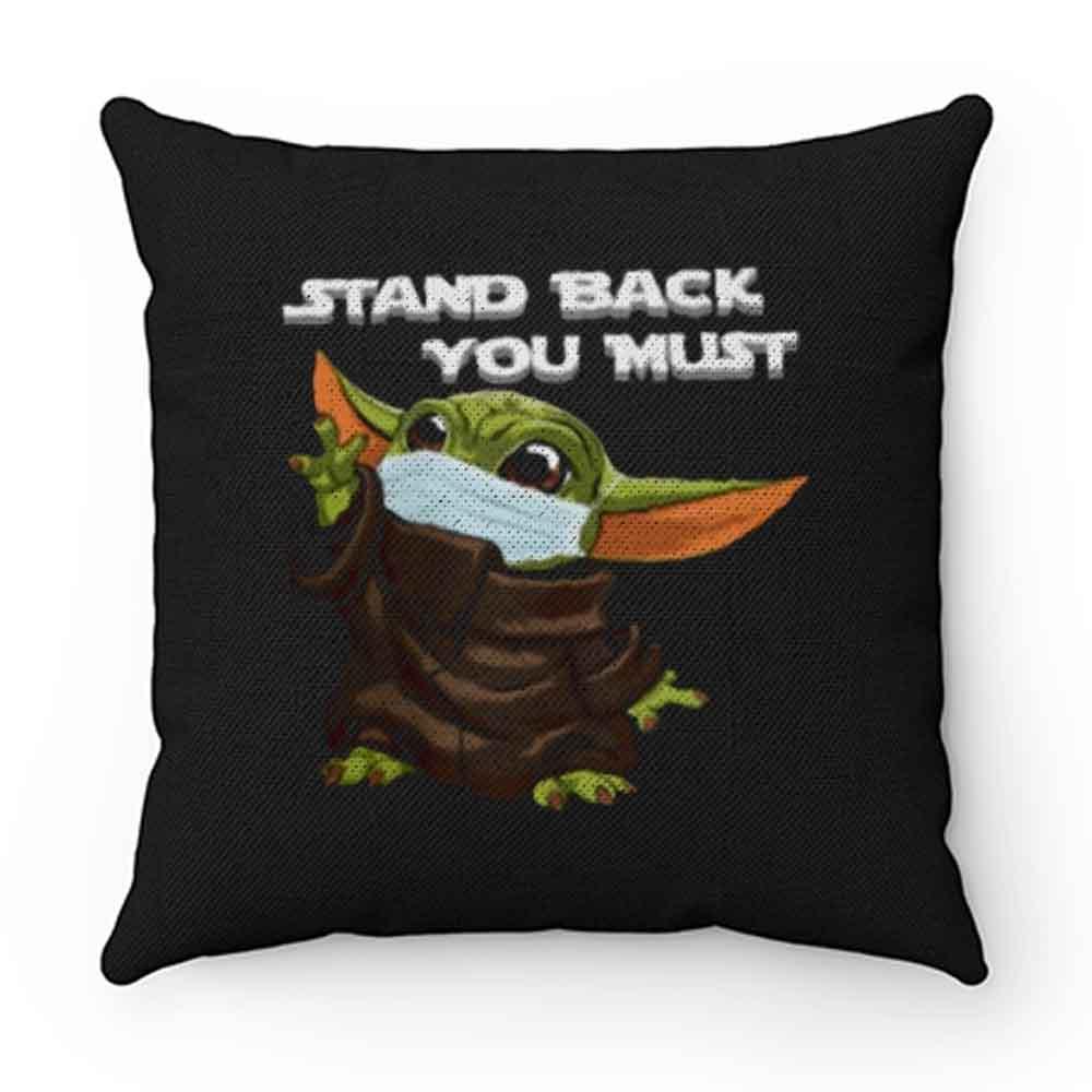 Baby Yoda Social Distance Pillow Case Cover