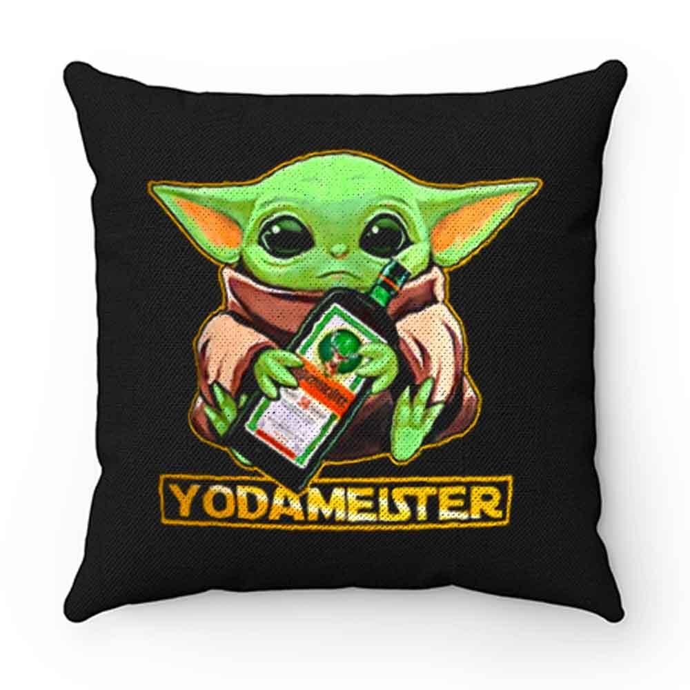 Baby Yodarmeister Mandalorian Jagermeister Funny Parody Pillow Case Cover