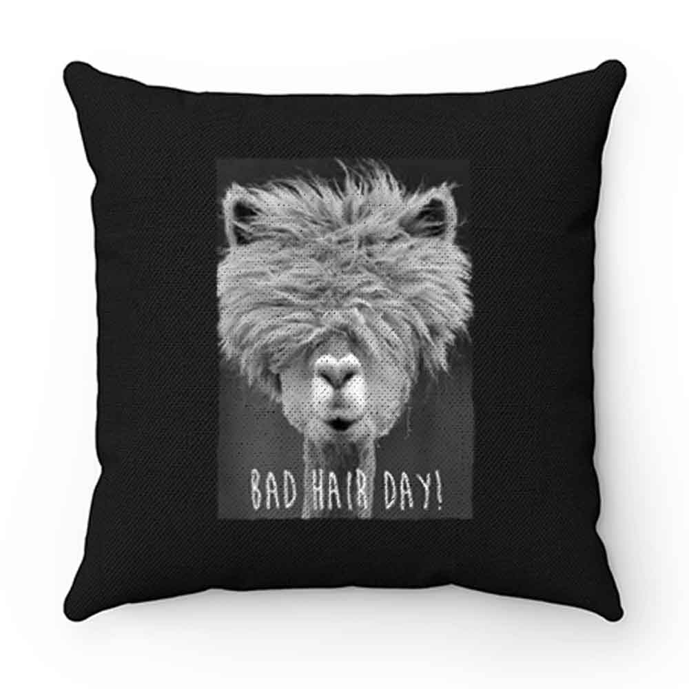 Bad Hair Day Hipster Llama Hipster Pillow Case Cover