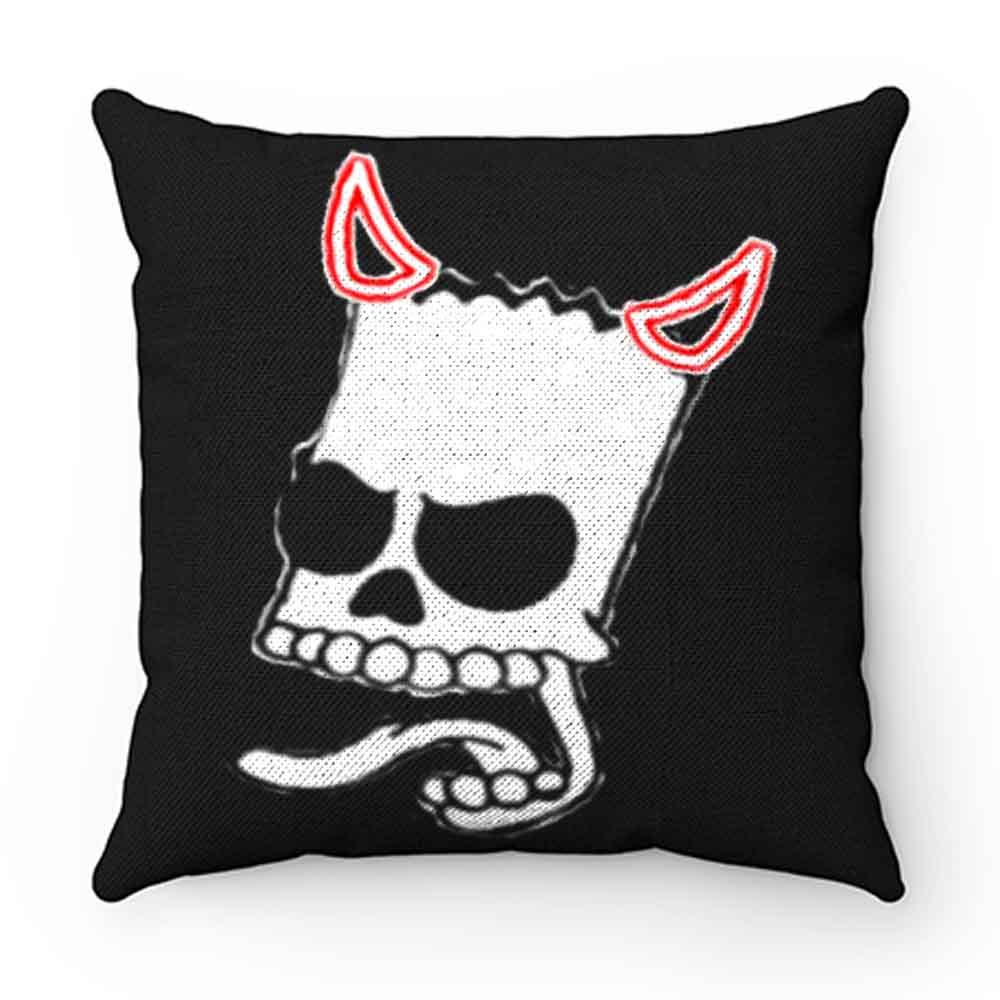 Bart Simsons Skul Devil Funny Pillow Case Cover