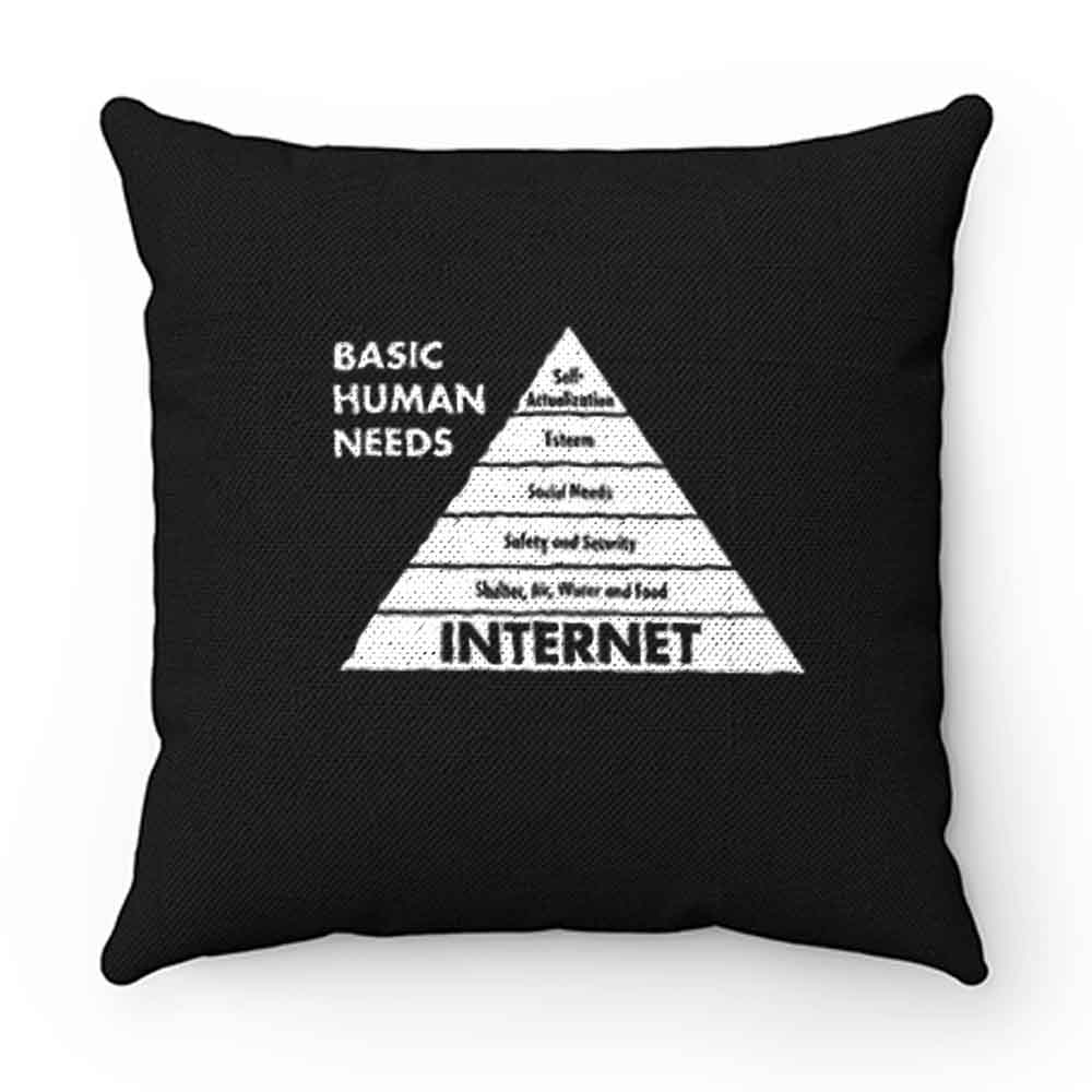 Basic Human Needs Internet Pillow Case Cover
