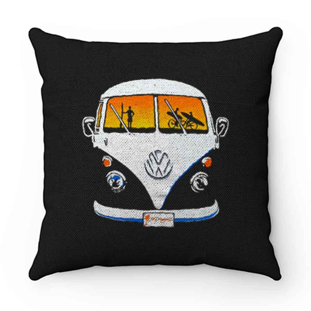 Beach Camper Cool Van Veedub Car Inspired Camping Vanagon Pillow Case Cover