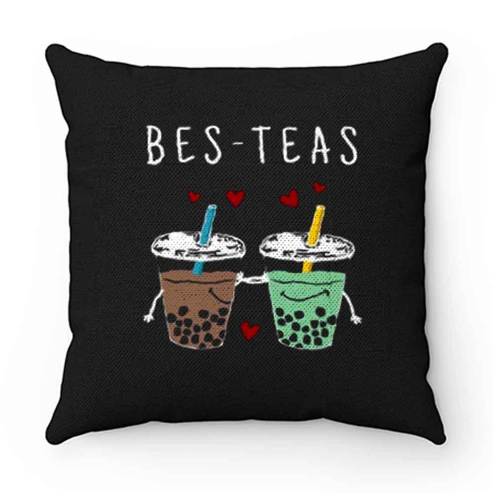 Bes Teas Best Friends Bubble Tea Pillow Case Cover