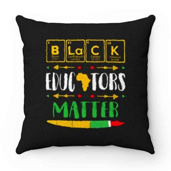 Black Educator Magic Black History Month Teacher Matter Periodic Table Of Elements Pillow Case Cover