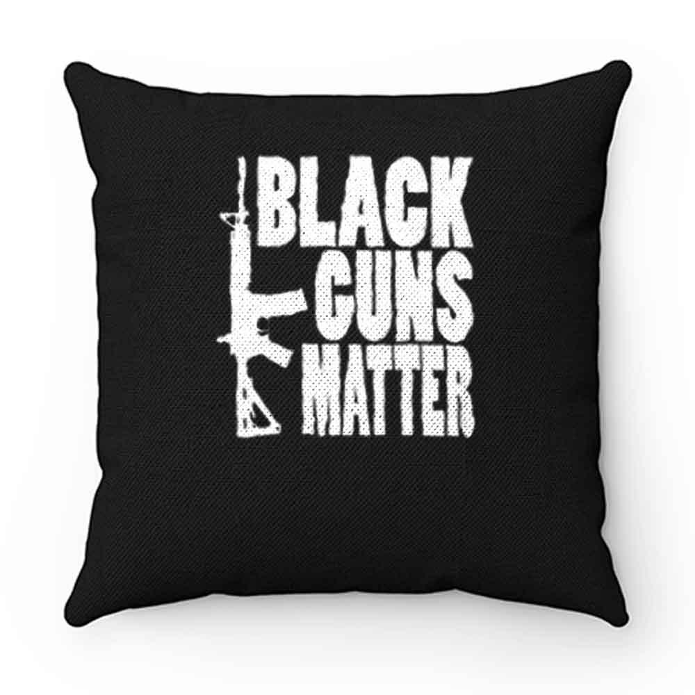 Black Guns Matter Pillow Case Cover