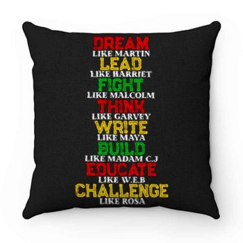 Black History and Historical Leaders Juneteenth Pillow Case Cover