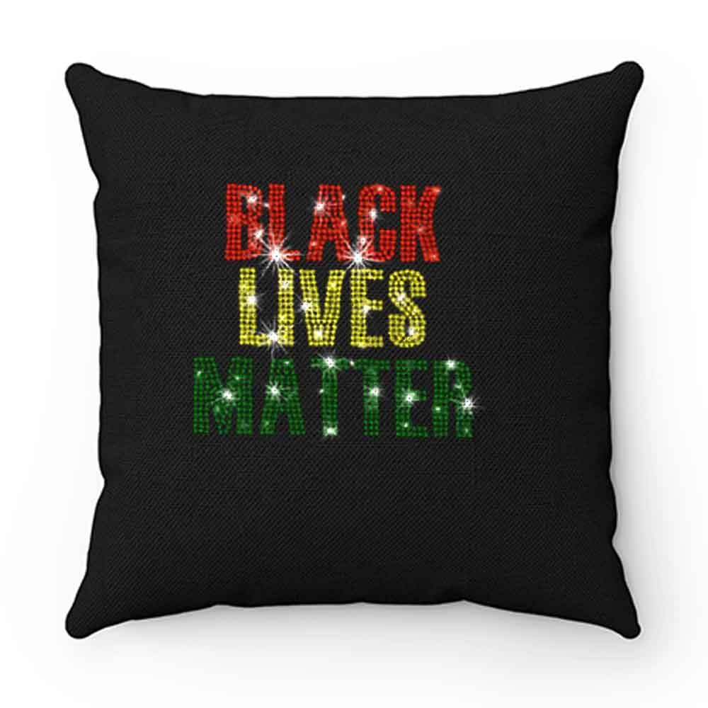 Black Lives Matter Rhinestone Pillow Case Cover