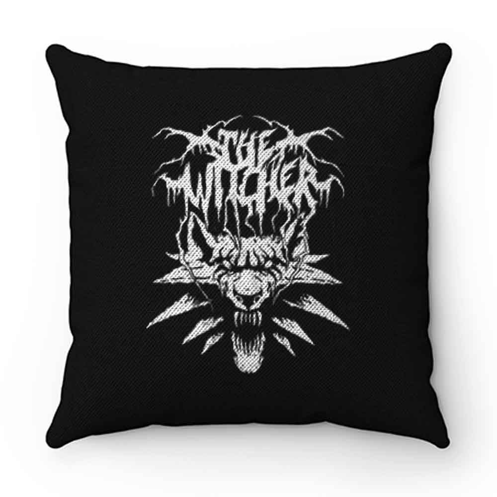 Black Metal Witcher Pillow Case Cover