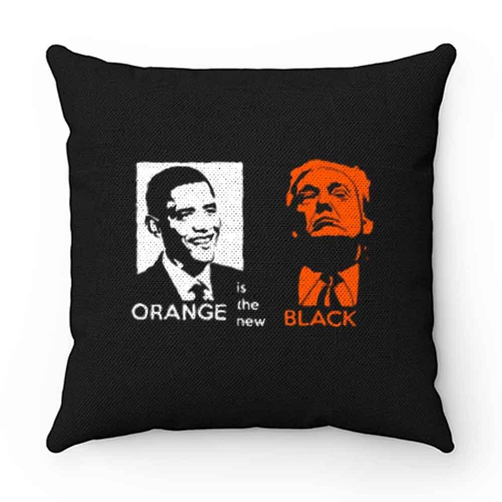 Black Orange Obama And Trump Pillow Case Cover