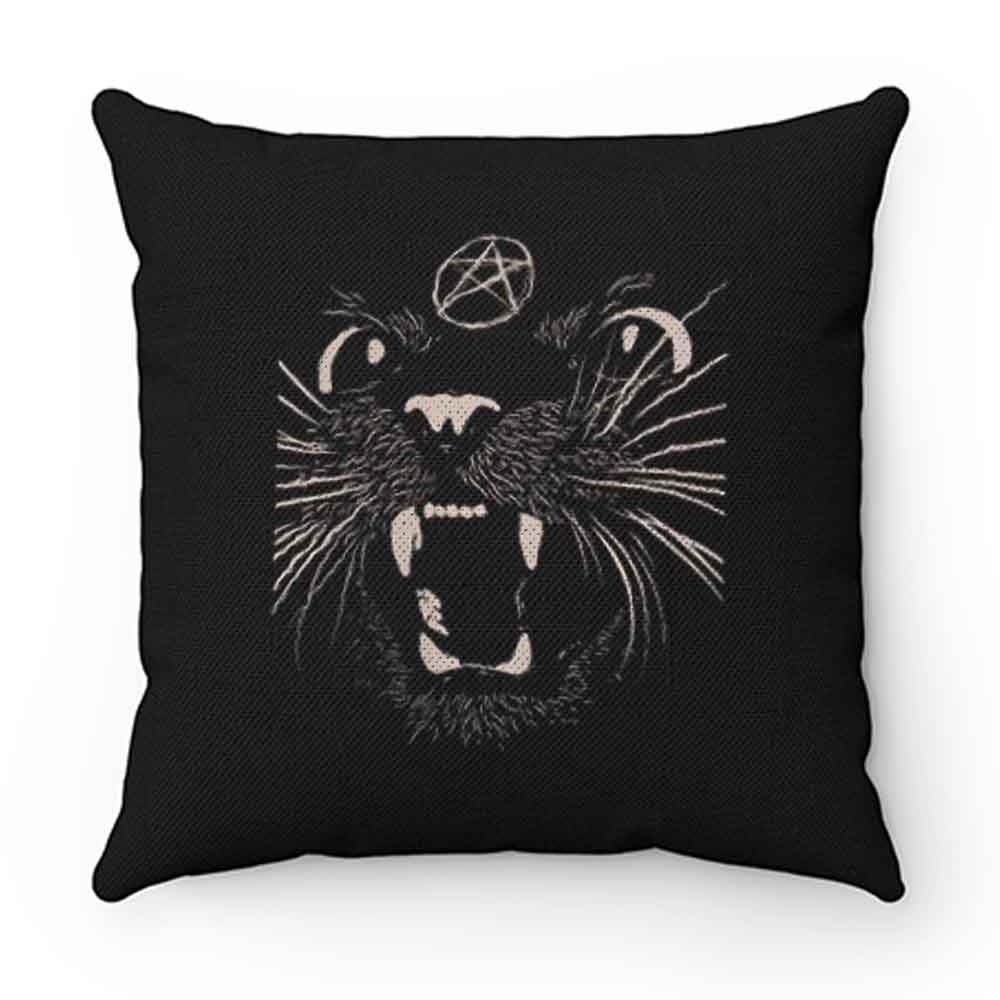Black Sassy Cat Pillow Case Cover