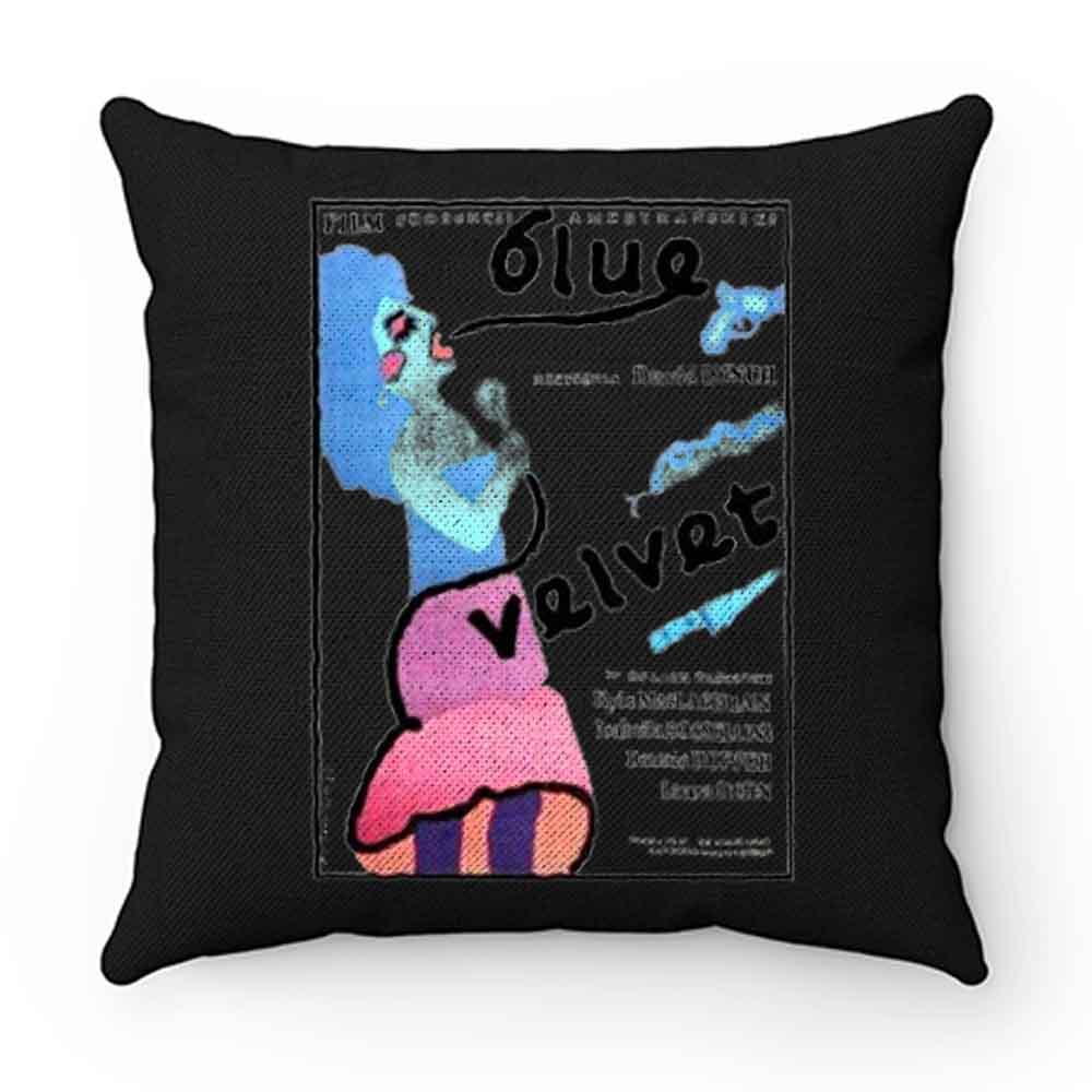 Blue Velvet Pillow Case Cover