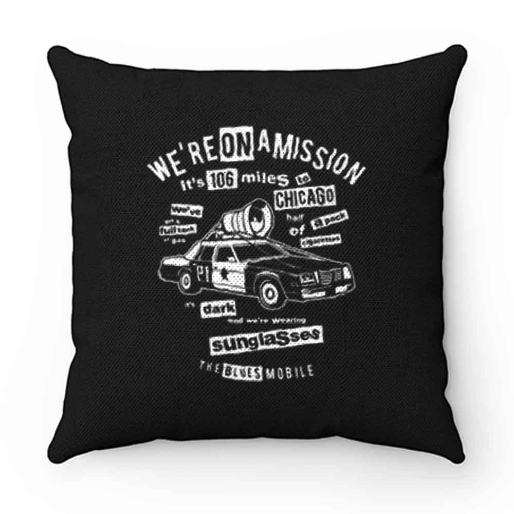 Blues Brothers Car Pillow Case Cover