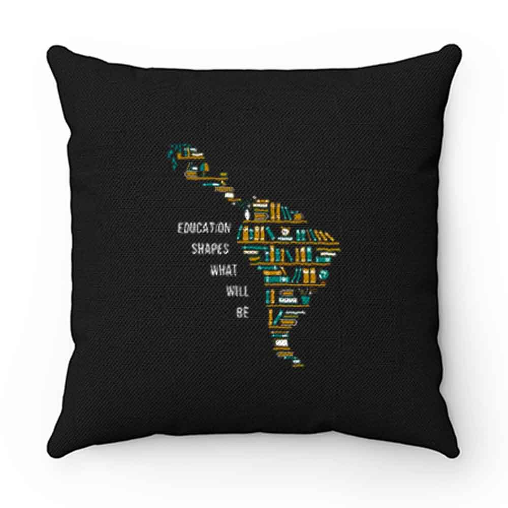 Book Map Education Shape What Will Be Pillow Case Cover