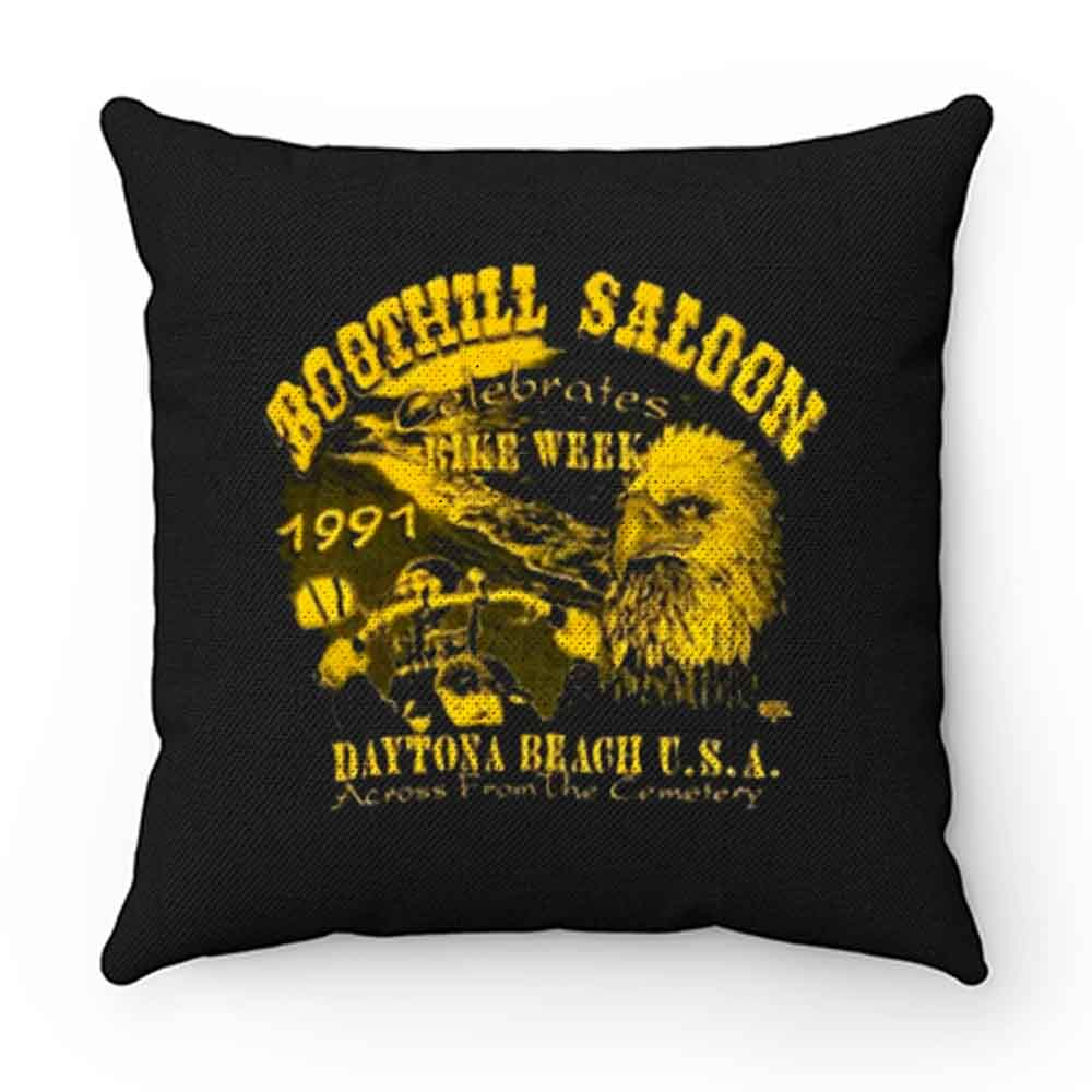 Boothill Saloon Biker Rally Single Stitch Pocket Pillow Case Cover