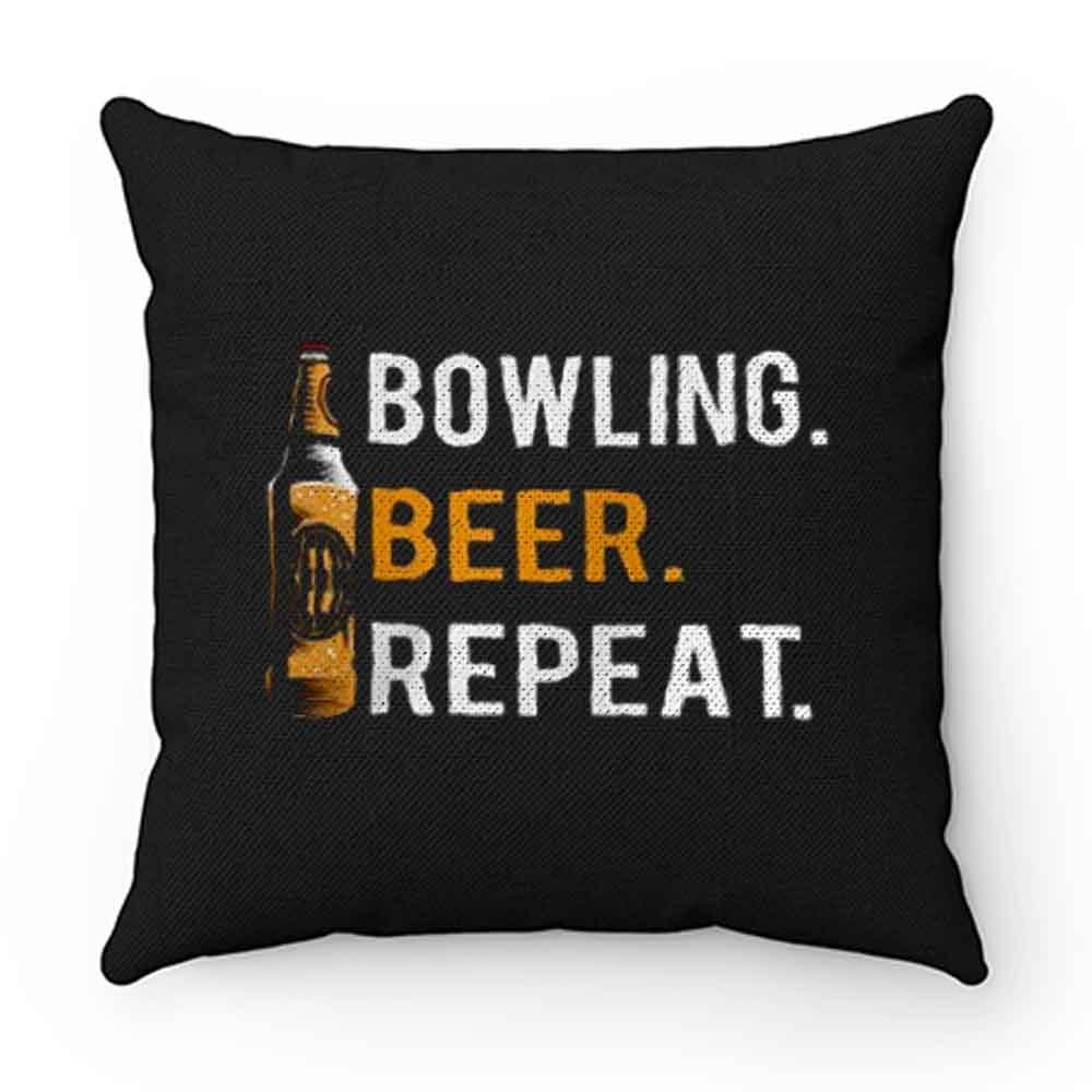 Bowling Beer Repeat Novelty Bowling Apparel Novelty Bowling Apparel Pillow Case Cover