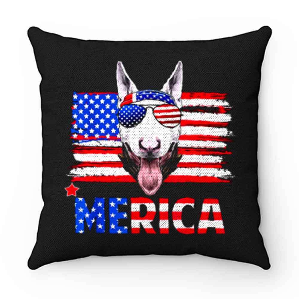 Bull Terrier Merica For 4th July United State Cute Pillow Case Cover