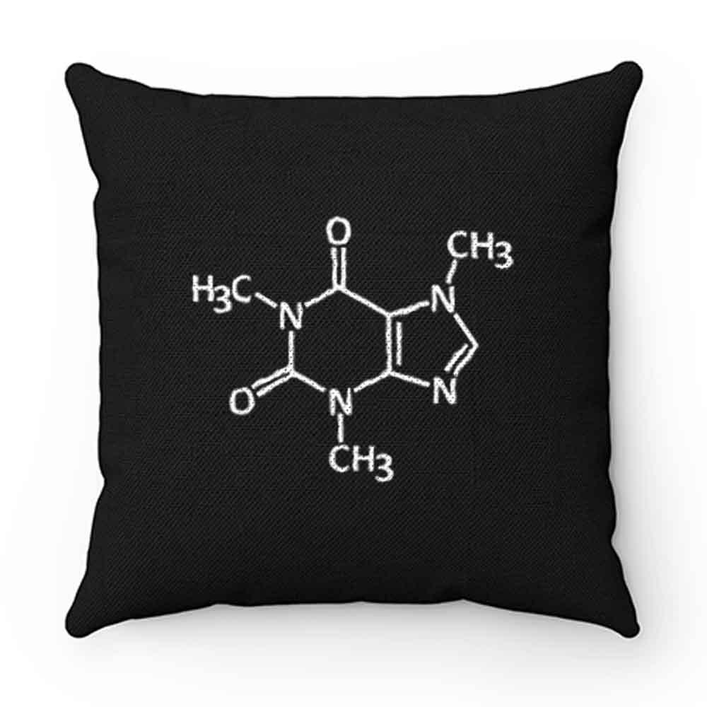 Caffeine molecule print Pillow Case Cover