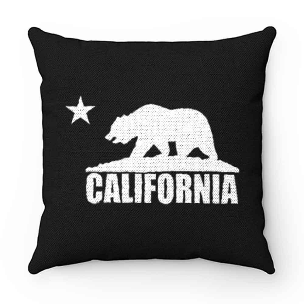 California Bear White Pillow Case Cover