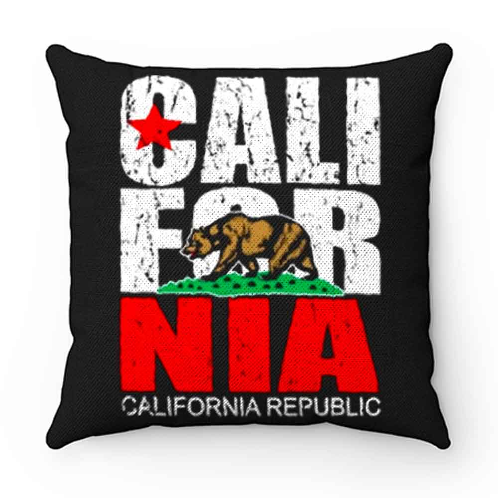 California Republic state Bear Flag Vintage Pillow Case Cover