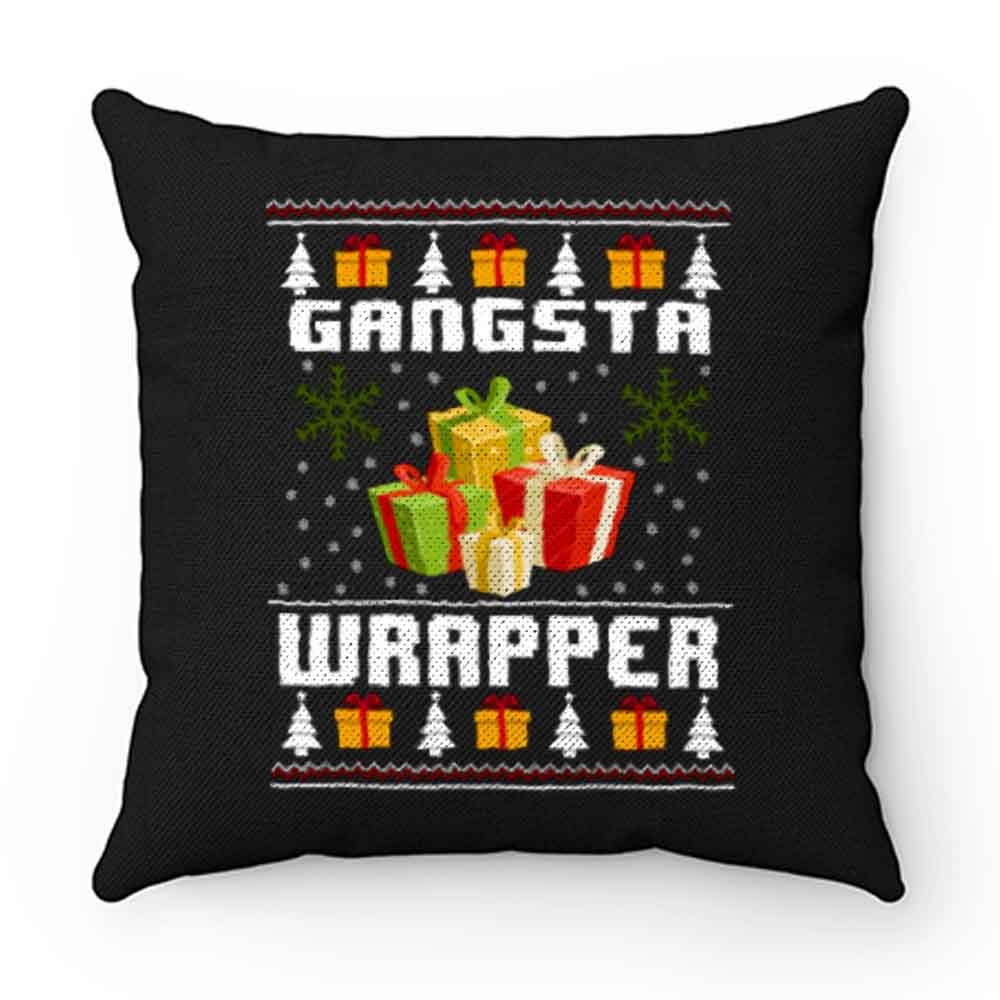 Christmas Gangsta Wrapper Pillow Case Cover