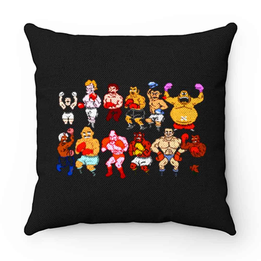 Classic Nes Nintendo 8bit Mike Tyson Punchout Characters Pillow Case Cover