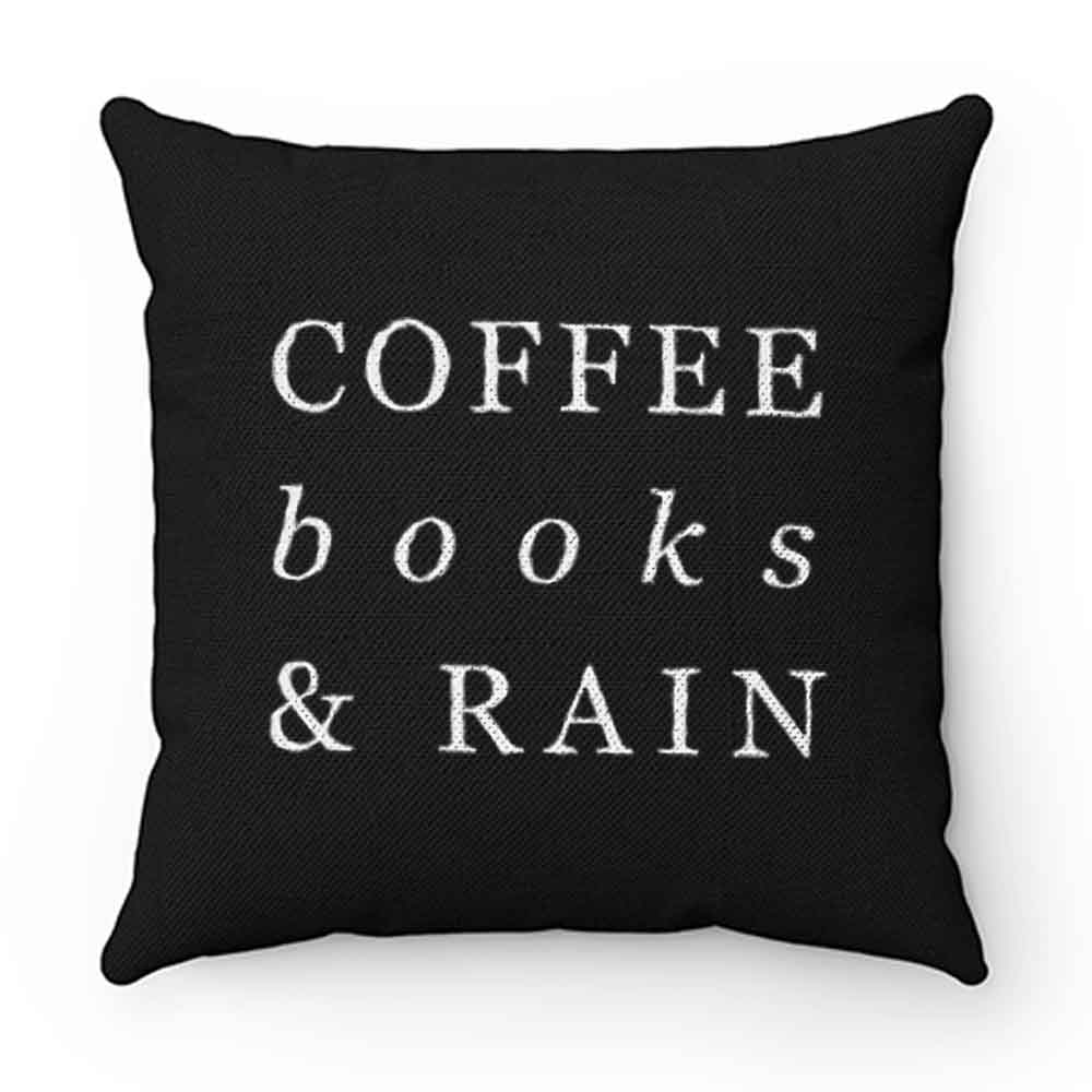 Coffee Books Rain Typography Pillow Case Cover