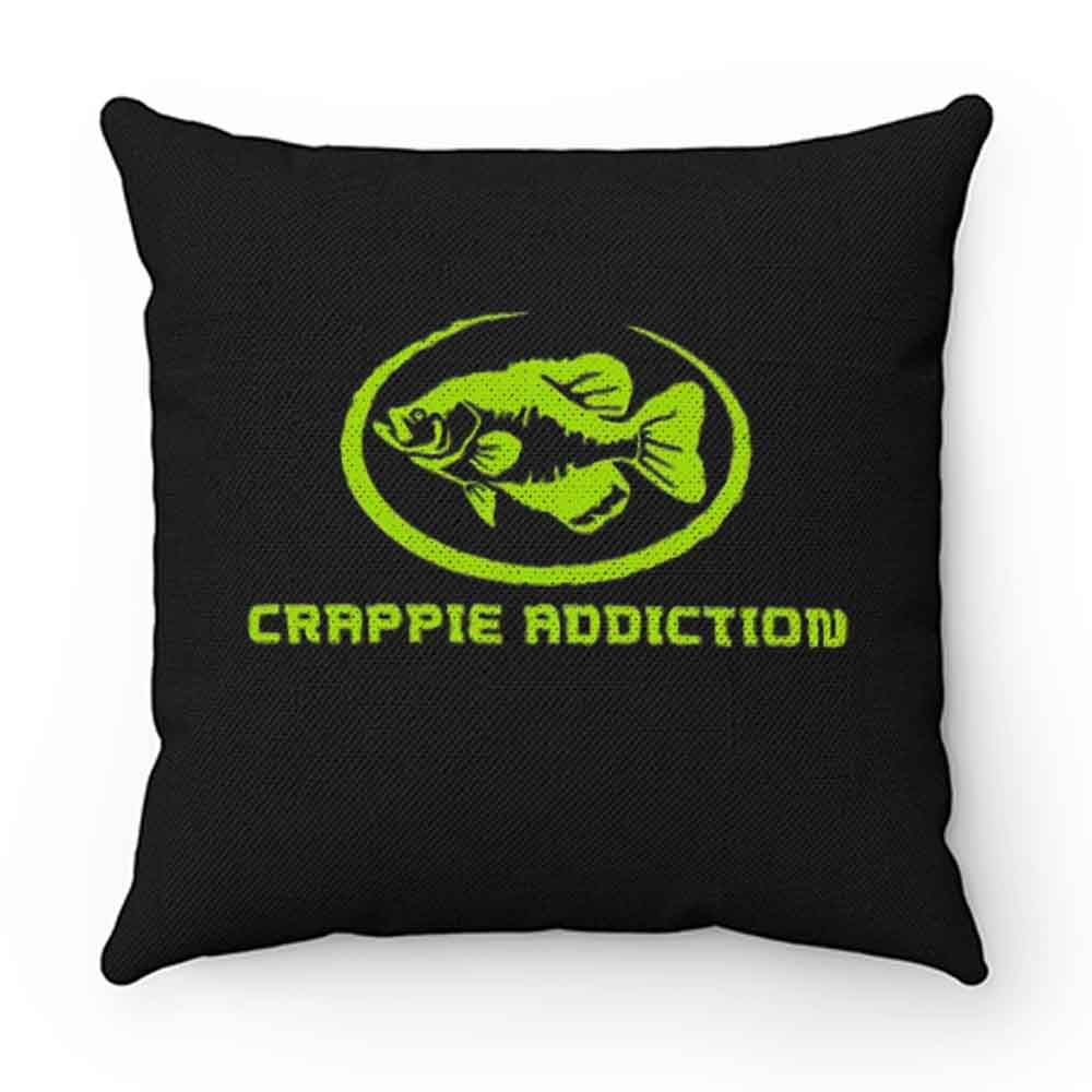 Crappie Addiction Funny Fishing Pillow Case Cover