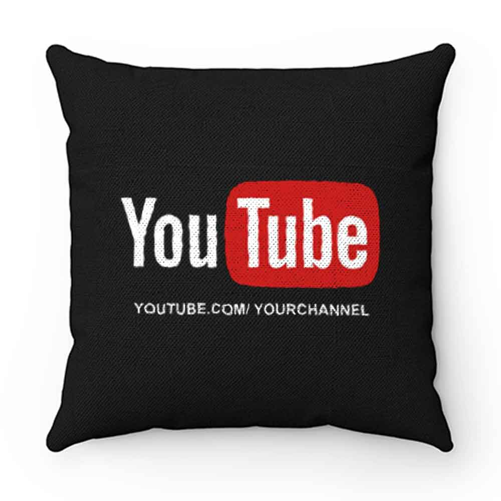 Customized YouTube Channel URL Pillow Case Cover