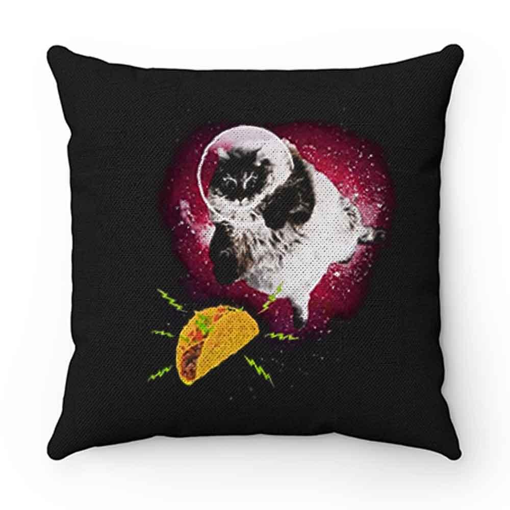 Cute Astronot Cat Get Nachos Pillow Case Cover