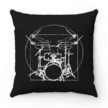 Da Vinci Drums Rock Drummer Pillow Case Cover