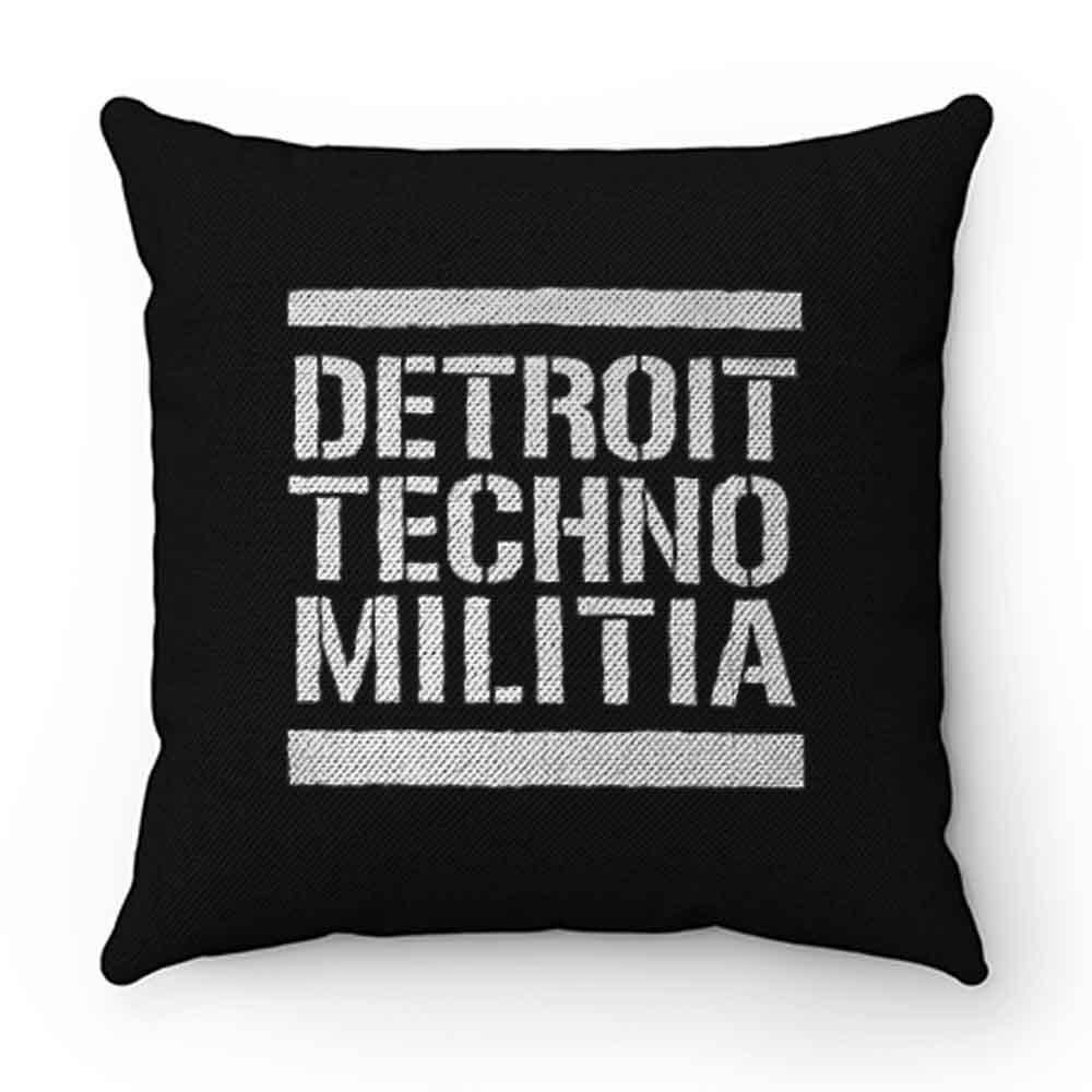 Detroit Techno Militia Pillow Case Cover