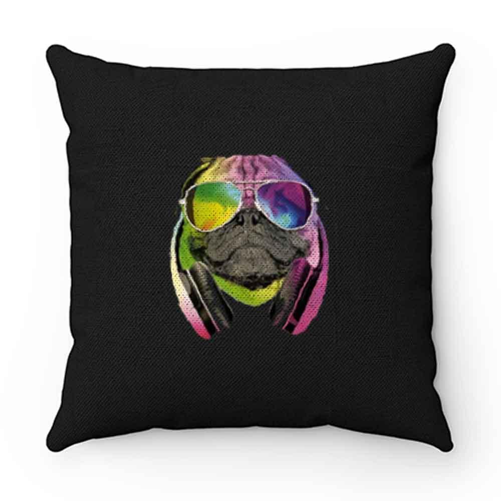 Dj Pug Colourful Pillow Case Cover