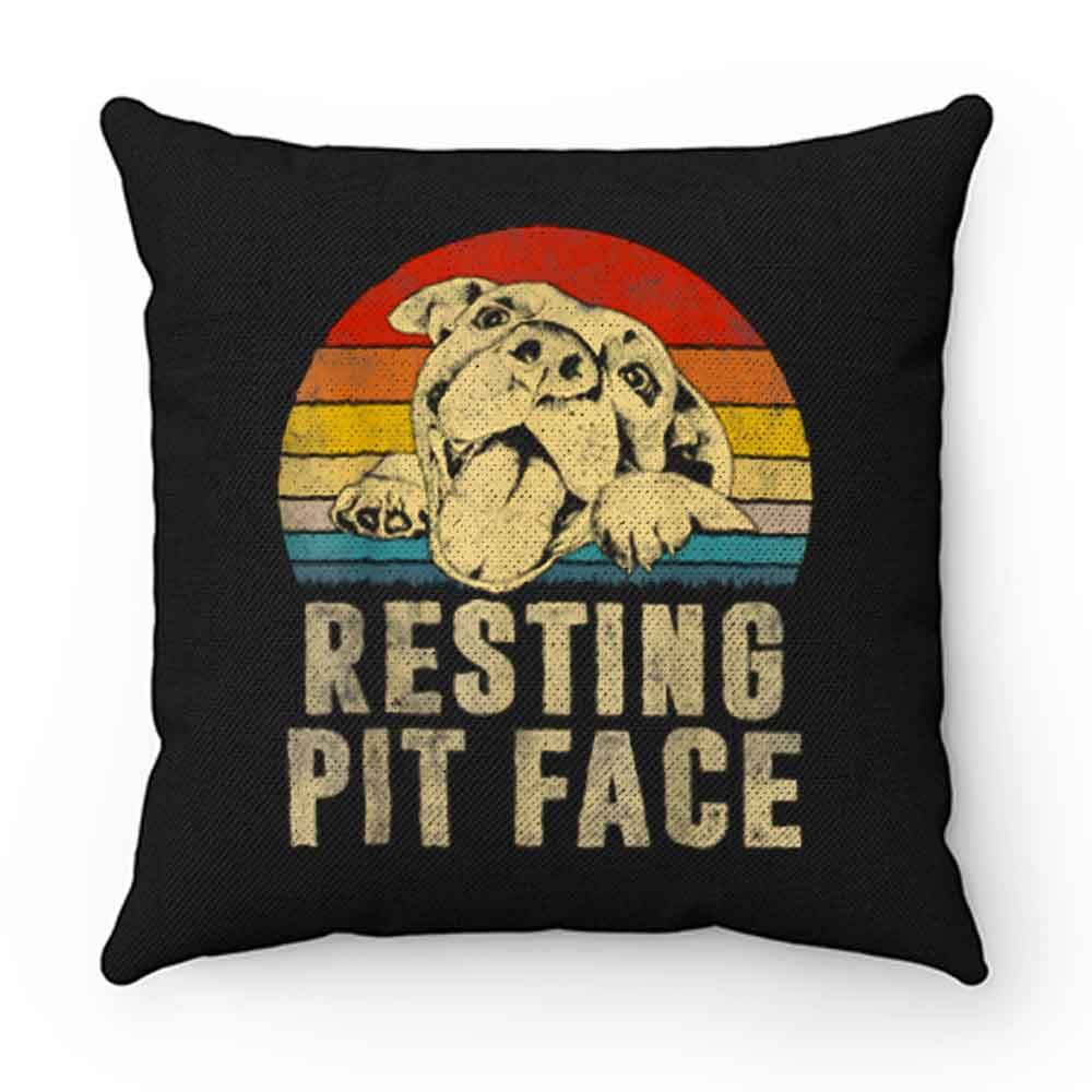 Dog Pitbull Resting Pit Face Vintage Pillow Case Cover