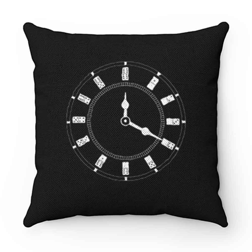Domino Clock Dominoes Tiles Puzzler Game Pillow Case Cover