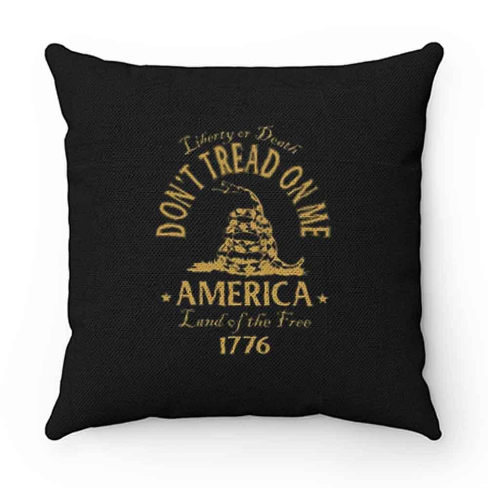 Dont Tread On Me Gadsden Snake Flag Pillow Case Cover