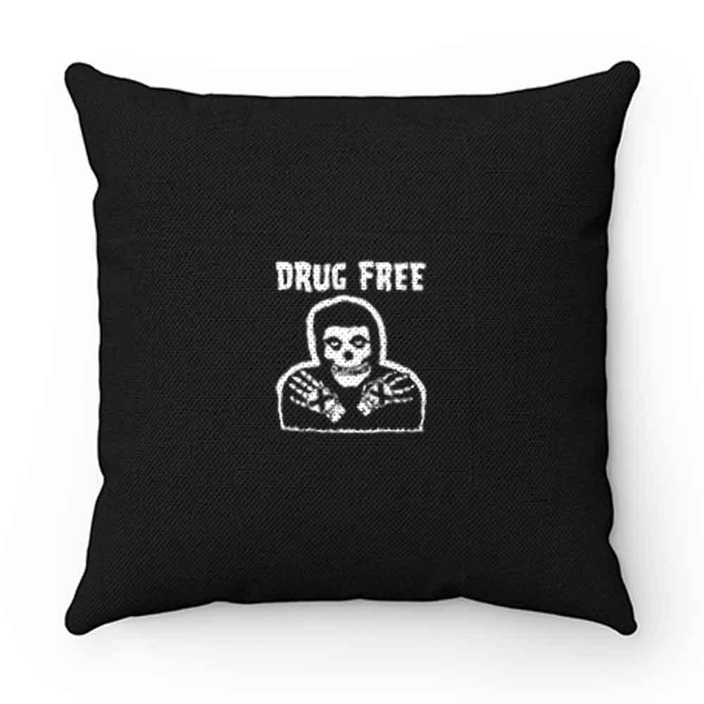 Drug Free Horror Movie Emo Skull Pillow Case Cover