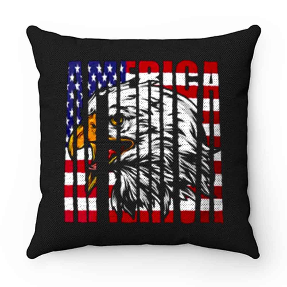 Eagle Mullet American Flag Pillow Case Cover